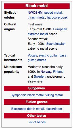 The Black Metal Family Tree